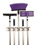 Five Slot Magic Mop and Broom Holder