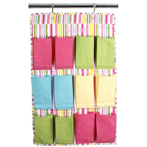 12 pocket hanging shoe organizer morgan stripe in over for 12 pocket over the door shoe organizer