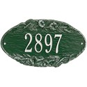 Morning Glory Oval Home Address Plaque