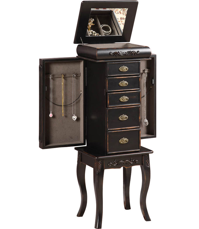 Standing Jewelry Armoire Morris In Jewelry Armoires