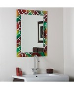Mosaic Frameless Bathroom Mirror by Decor Wonderland