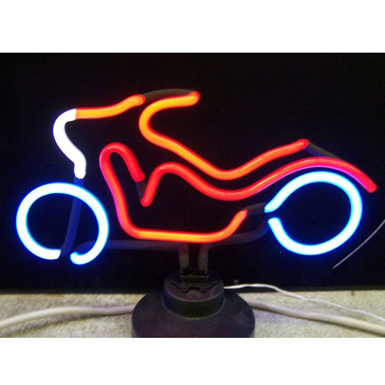 Motorcycle Neon Sculpture in Neon Light Art