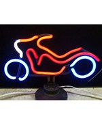 Motorcycle Neon Sculpture - by Neonetics