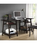 Mott Large Modern Desk with Sawhorse Legs by Wholesale Interiors