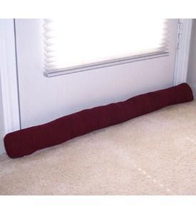 Door window draft stopper maroon in doormats for Front door draft stopper
