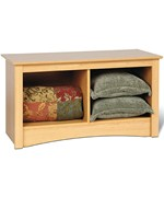 Sonoma Twin Cubby Storage Bench - Maple