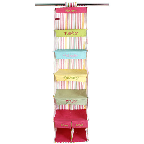 days of the week closet organizer morgan stripe in