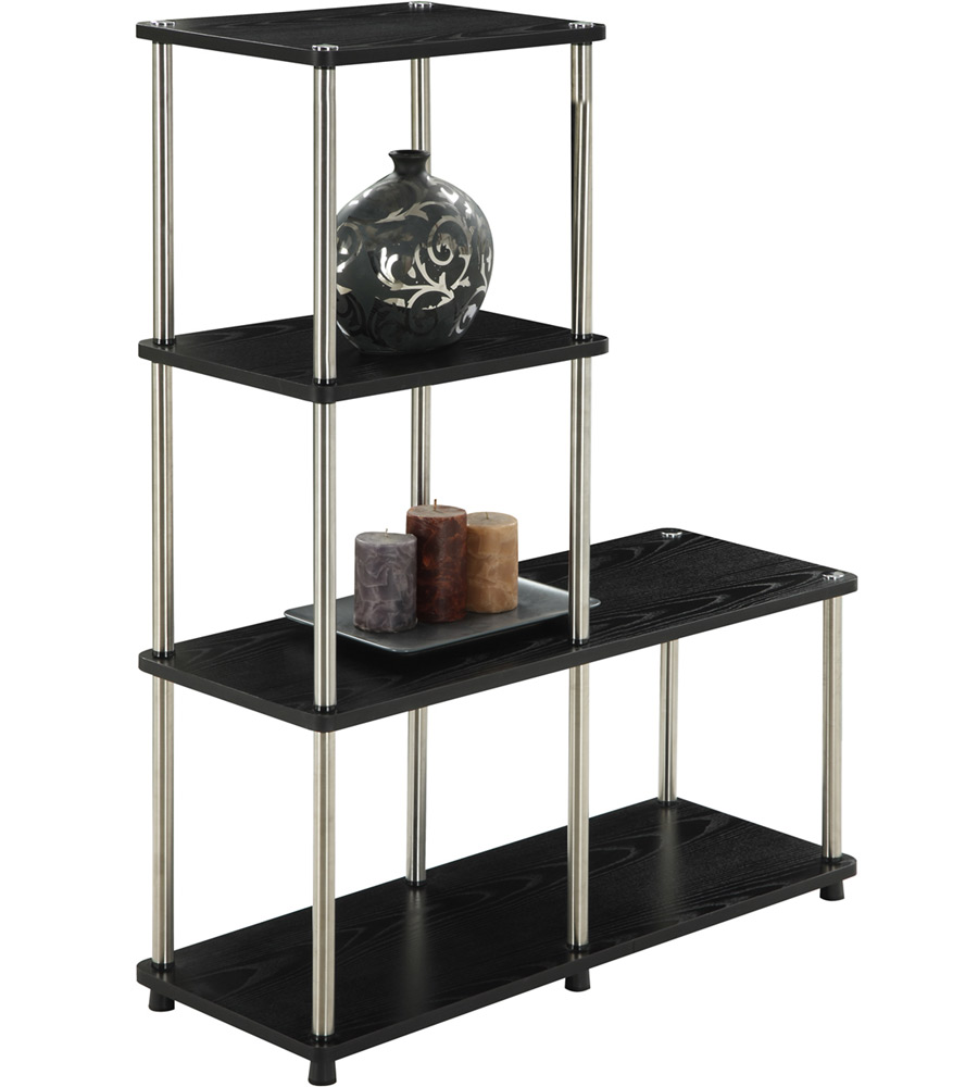 Multi Level Bookshelf In Free Standing Shelves