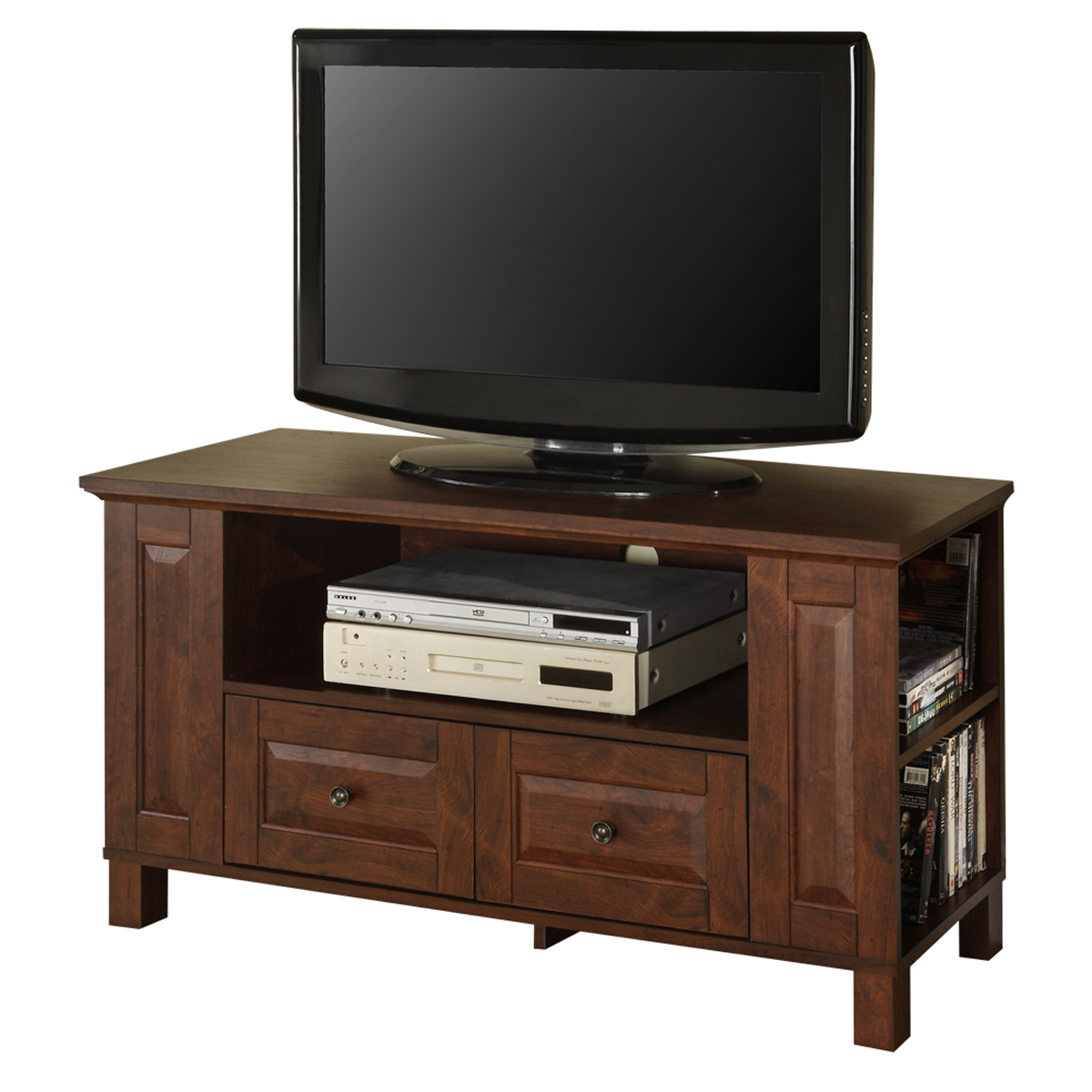 Tv Stand Drawers ~ Inch wood tv stand with drawers and storage by walker