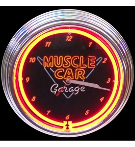 Muscle Car Garage Neon Clock by Neonetics Image