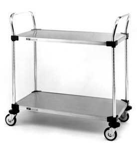 InterMetro Two-Shelf Stainless Steel Utility Cart Image