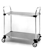 InterMetro Two-Shelf Stainless Steel Utility Cart