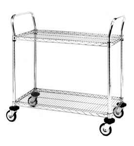 InterMetro Two-Shelf Chrome Utility Cart Image