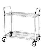 InterMetro Two-Shelf Chrome Utility Cart
