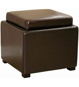 Narcissus Leather Storage Ottoman Image