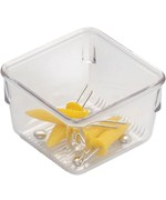 Narrow Clear Plastic Drawer Organizer - Square