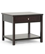 Nashua Brown Modern Accent Table and Nightstand by Wholesale Interiors