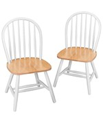 Natural and White Windsor Chairs