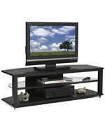 Natural Wood Veneers CRX 54 Inch Black Video Stand by Plateau