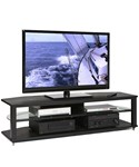 Natural Wood Veneers CRX 64 Inch Black Video Stand by Plateau
