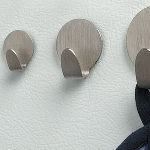 Brushed Nickel Neo Magnetic Hooks Small Set Of 5 In