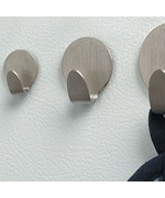 Brushed Nickel Neo Magnetic Hooks - Small