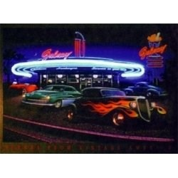 Neon Poster - Galaxy Diner by Neonetics Image
