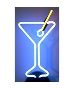 Neon Sculpture - Martini Glass