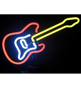 Guitar Neon Sign Sculpture Image