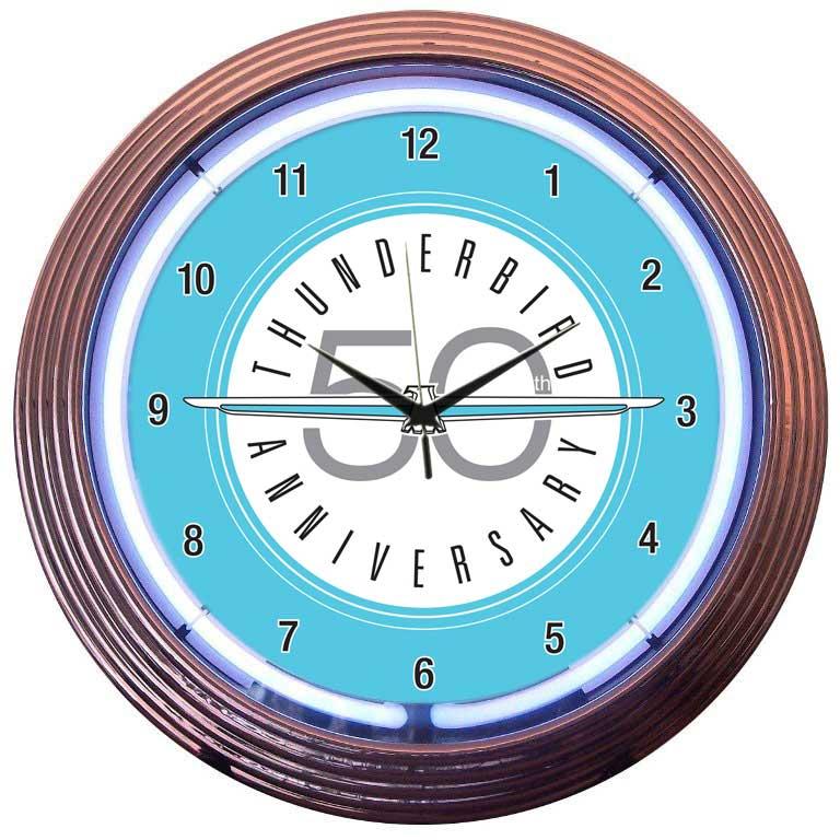 Ford Thunderbird Neon Wall Clock by Neonetics in Neon Clocks