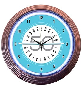 Ford Thunderbird Neon Wall Clock by Neonetics Image