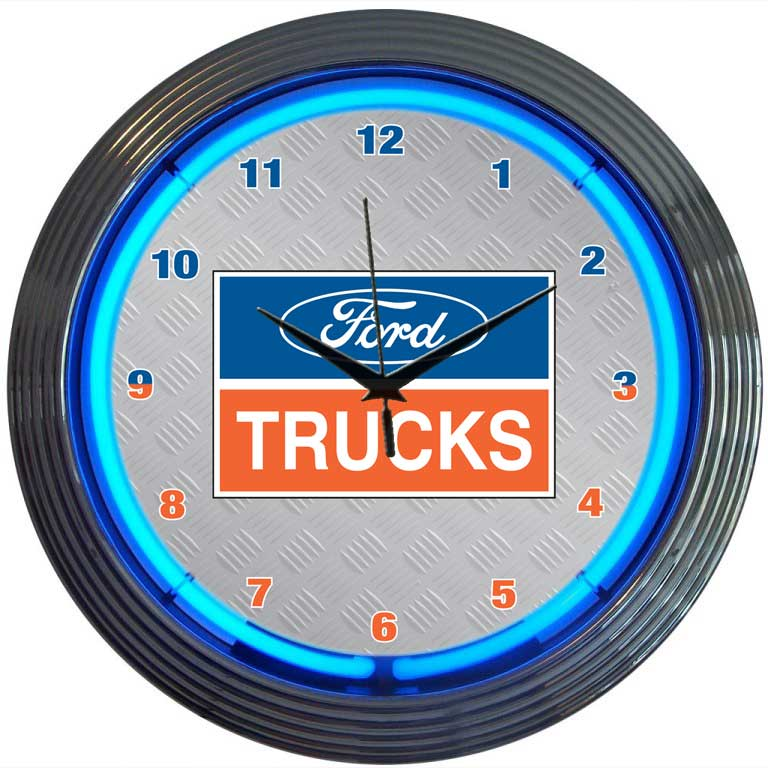 Ford Trucks Neon Wall Clock by Neonetics in Neon Clocks