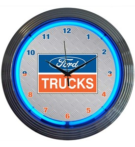 Ford Trucks Neon Wall Clock by Neonetics Image