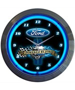 Powered By Ford Neon Wall Clock by Neonetics
