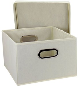 Folding Storage Boxes (Set of 2) Image