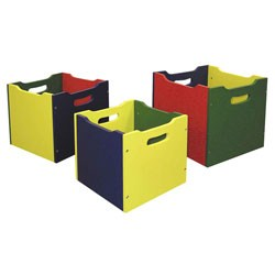 Colored Nesting Toy Boxes (Set of 3) Image