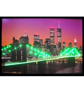 New York Skyline Neon LED Art Picture by Neonetics Image
