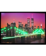 New York Skyline Neon LED Art Picture by Neonetics