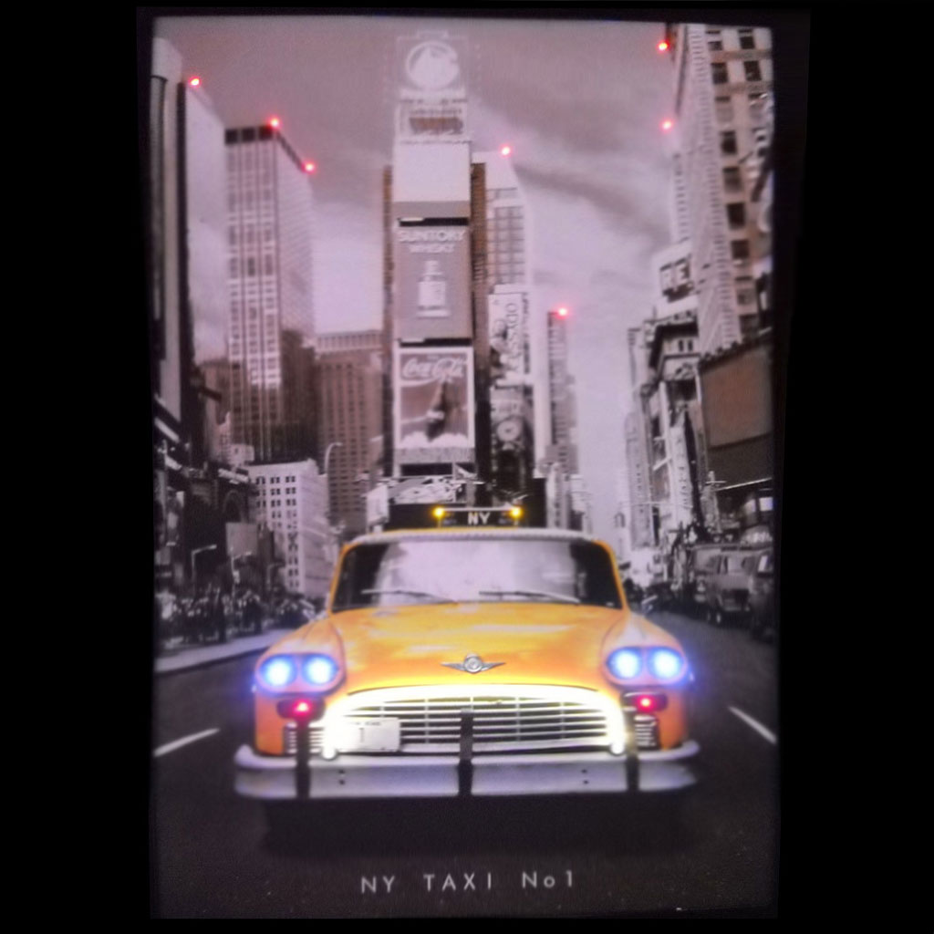 New York Taxi Cab Neon LED Picture In Neon Light Art