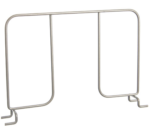 FreedomRail 12 Inch Wire Shelf Divider - Nickel Image