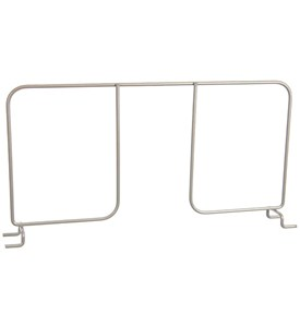 freedomRail 16 Inch Wire Shelf Divider - Nickel Image