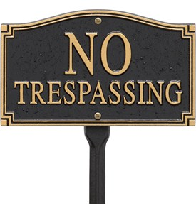 No Trespassing Yard Sign Image