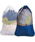 Nylon and Mesh Laundry Bag