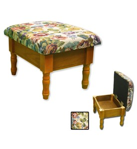Oak Foot Stool with Storage by ORE International Image