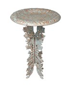 Birdbath and Pedestal - Oak Leaf