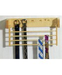 Wood Tie and Belt Rack