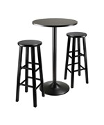 Obsidian 3pc Bar Height Dining Set by Winsome
