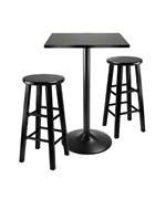 Obsidian 3pc Counter Height Dining Set by Winsome
