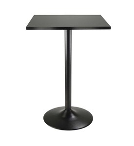 Obsidian Square Pub Table by Winsome Image