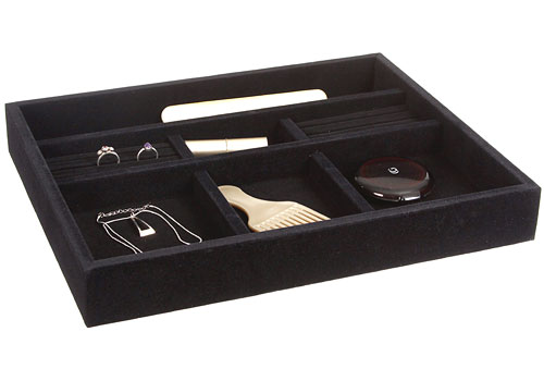 black velvet jewelry organizer 15 inch in jewelry trays